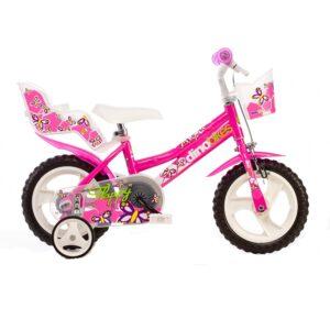 Dino 126RL-02 12 Zoll Mädchen Kinderfahrrad Rosa A