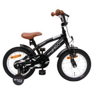 AMIGO BMX Fun 14 Zoll Kinderfahrrad Schwarz A