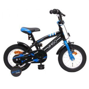 AMIGO BMX Fun Blau Schwarz 12 Zoll Kinderfahrrad A