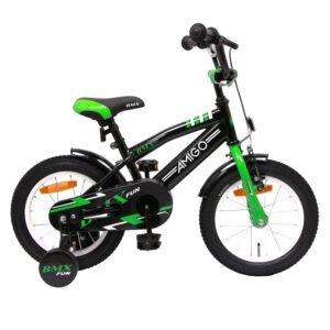 AMIGO BMX Fun Grün Schwarz 14 Zoll Kinderfahrrad A