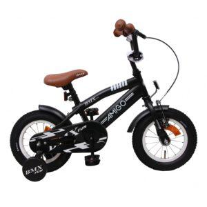 AMIGO BMX Fun Mattschwarz 12 Zoll Kinderfahrrad A