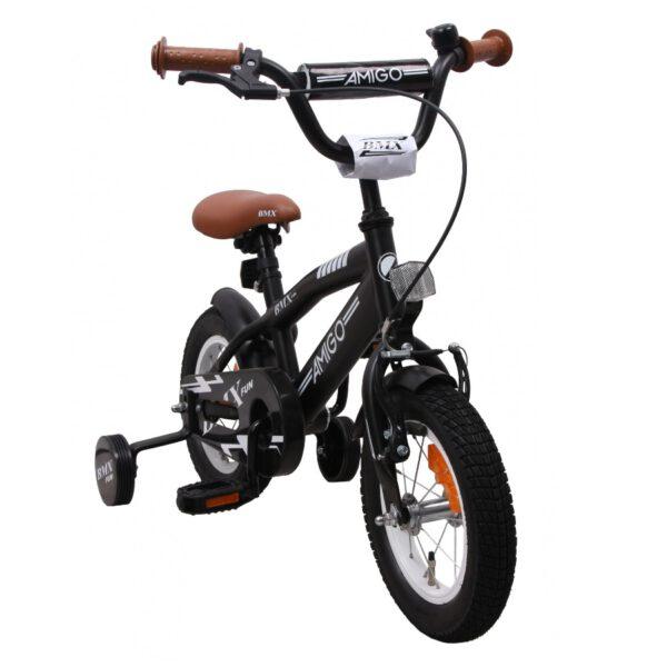 AMIGO BMX Fun Mattschwarz 12 Zoll Kinderfahrrad B