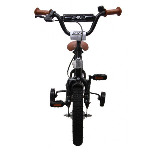AMIGO BMX Fun Mattschwarz 12 Zoll Kinderfahrrad F