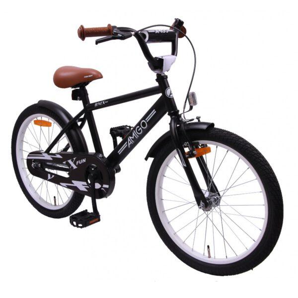 AMIGO BMX Fun 20 Zoll Mattschwarz Kinderfahrrad B
