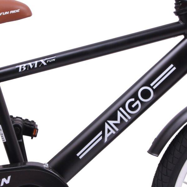 AMIGO BMX Fun 20 Zoll Mattschwarz Kinderfahrrad C