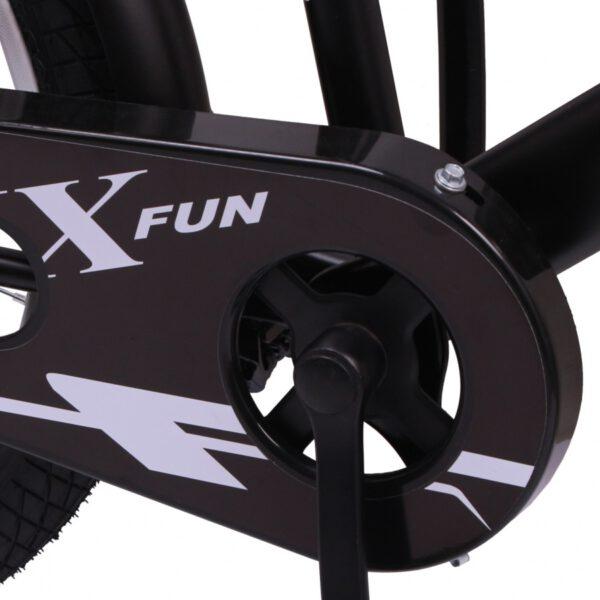 AMIGO BMX Fun 20 Zoll Mattschwarz Kinderfahrrad E