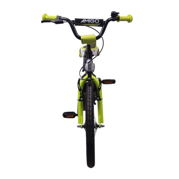 AMIGO BMX Turbo 18 Zoll Kinderfahrrad Gelb Schwarz C