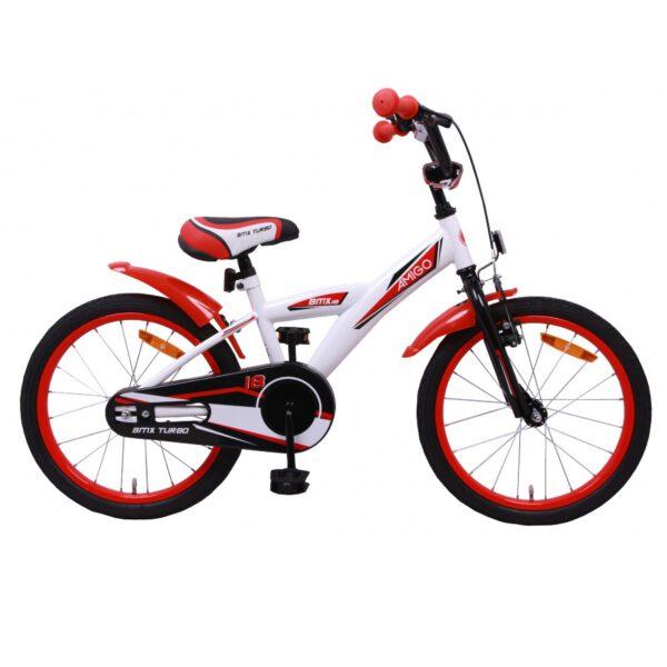 AMIGO BMX Turbo 18 Zoll Kinderfahrrad Weiß Rot A