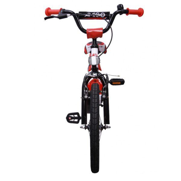 AMIGO BMX Turbo 18 Zoll Kinderfahrrad Weiß Rot C
