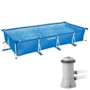 Intex Frame Pool Swimming Pool 450 mit Pumpe