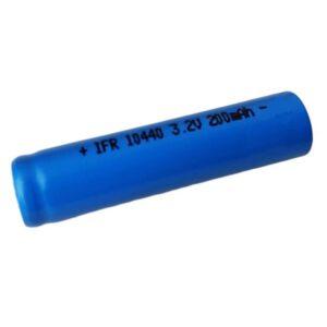 AkkuCell IFR 10440 200mAh LiFePo4 Akku Flat Top ungeschützt 3,2V