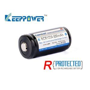 Keeppower RCR123AR 16340 650mAh R-Serie A