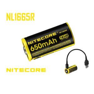 NiteCore NL-1665R 16340 650mAh Akku mit USB Ladefunktion A