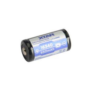 Xtar 16340 LIR123A 650mAh Li-Ion Akku A